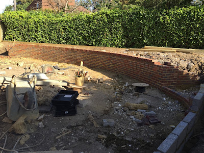 During landscaping transformation Ashtead Surrey