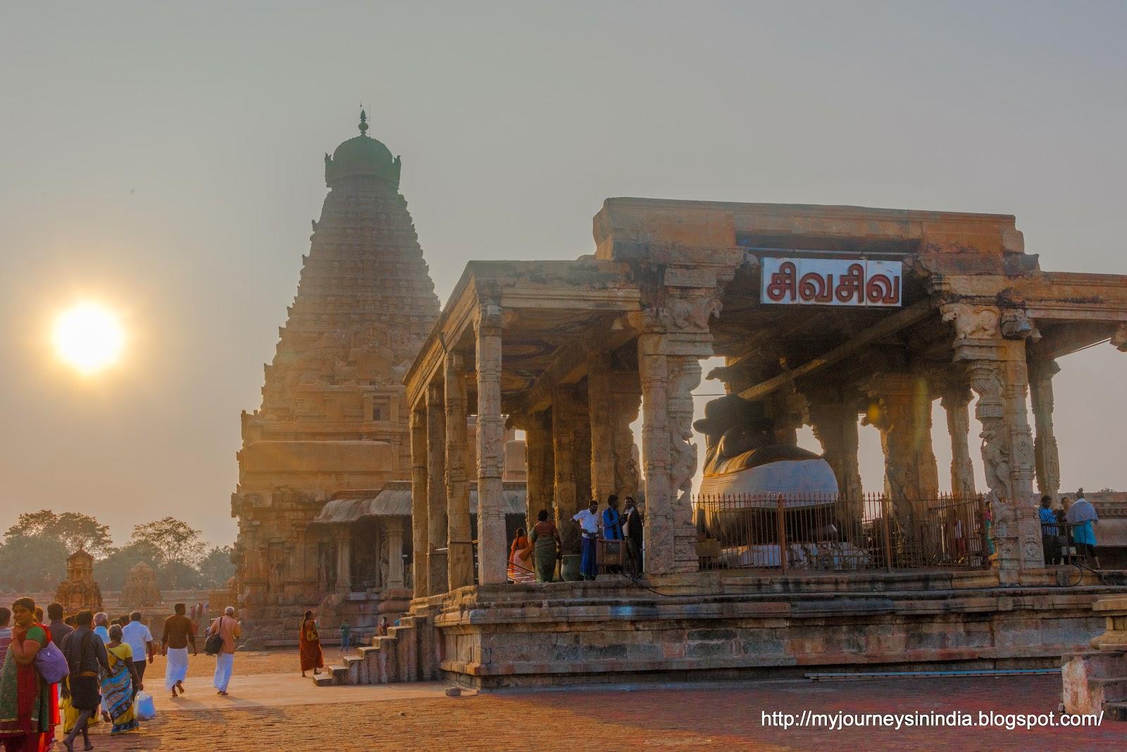 Thanjavur Brihadeeswarar Temple Golden hour shine