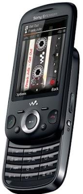 Sony Ericsson Zylo Black Sliding Keypad Image