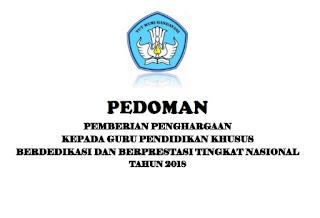 Download Pedoman Penghargaan Guru PK Tahun 2018 Pdf