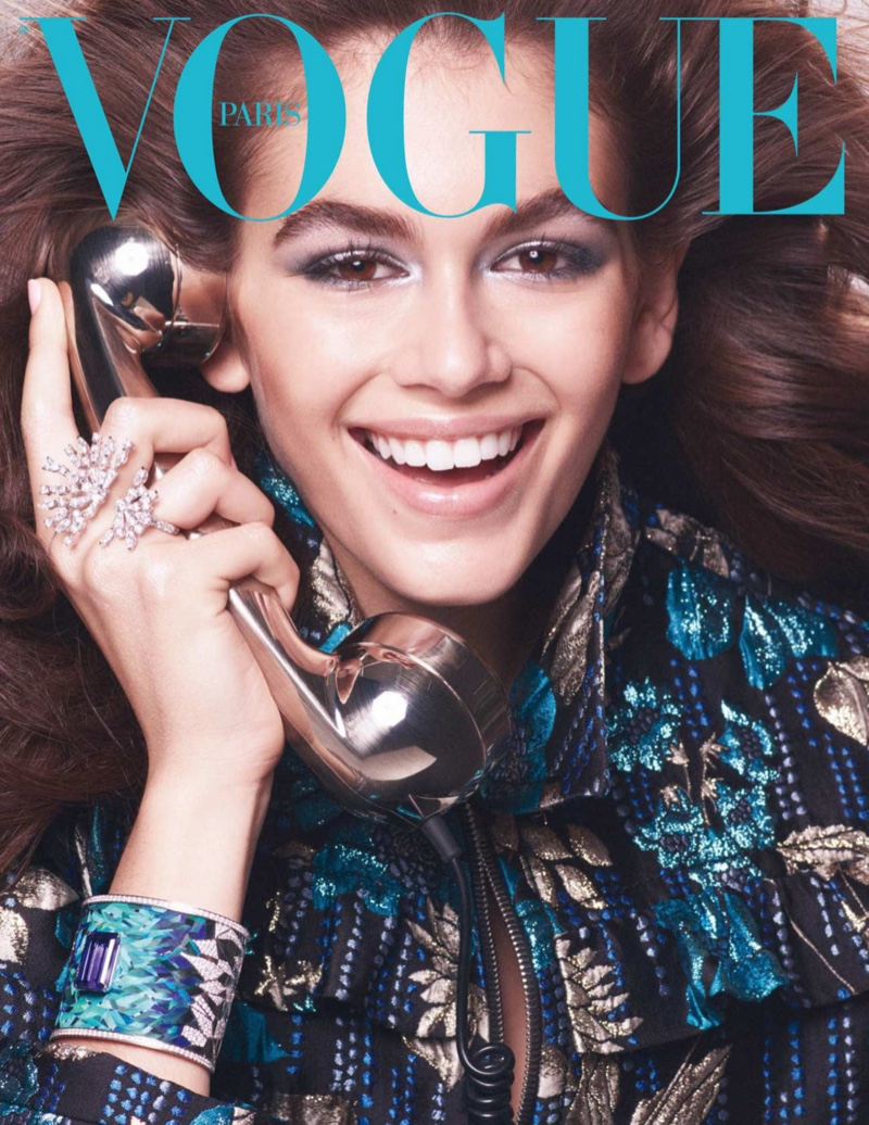 Kaia Gerber Vogue Paris October 2018 jewellery covers - fashion blog