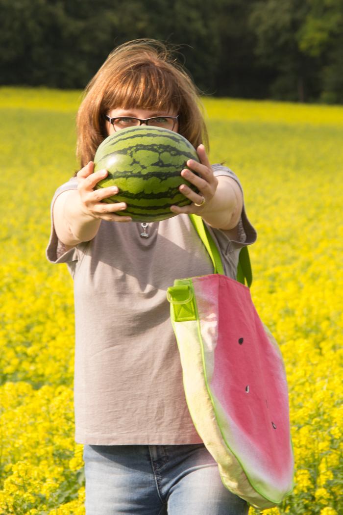 Ich habe eine Melone getragen. Pearl's Harbor Blog Anleitung für eine Tasche
