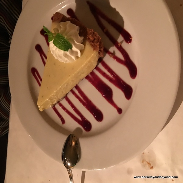 Key lime pie at Izzy's Steak & Chop House in Oakland, California