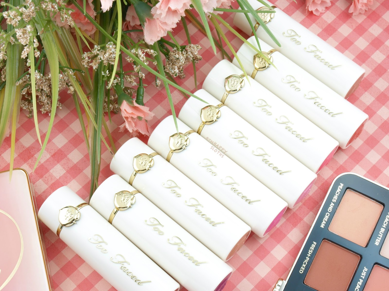 Too Faced Peaches & Cream Collection | Peach Kiss Moisture Matte Long Wear Lipstick: Review and Swatches