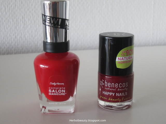 Nagellack Sally Hansen und Benecos Happy Nails