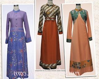 model baju batik kombinasi brokat untuk orang gemuk