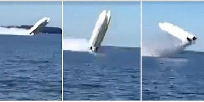 Προσοχή σκληρό video: Τρομακτικό δυστύχημα με σκάφος-Άνθρωποι εκτοξεύτηκαν στον αέρα