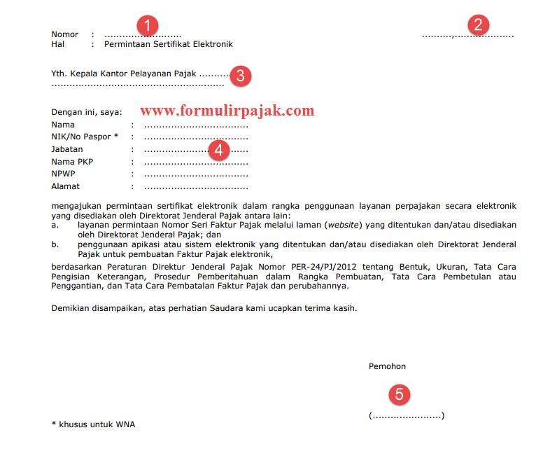 permohonan sertifikat elektronik cara lapor pajak online