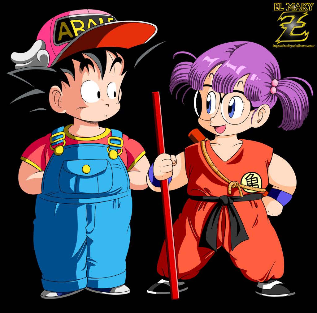 Render Goku y Arale