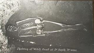 Photo du squelette présumé d'Ursula Kemp en 1921
