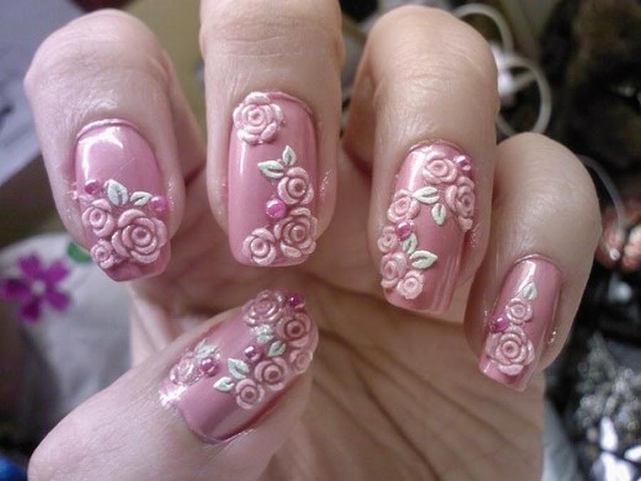 Pink Flower Nail Arthttprefreshrose Blogspot Com