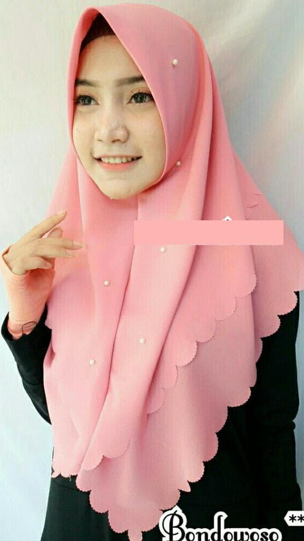 Jilbab Instan CUTTING LASER Renda Cantik Terbaru Panjang Syari