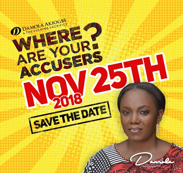 """Event: Damola Akiogbe Sets to Host November 2018 Edition of Where Are Your Accusers tagged """"MOCKING MIRACLES"""" @DamolaWAYA"""