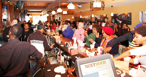 Customers eating at Ben's Next Door, a Black-owned brunch spot in Washington DC