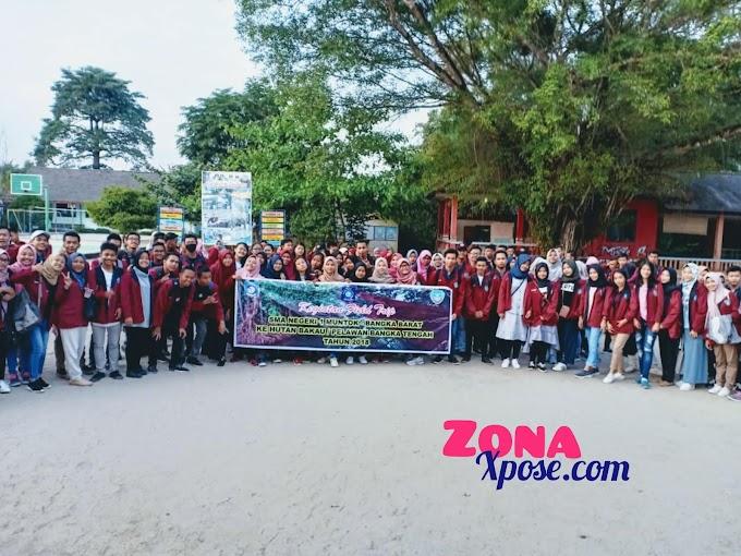 Siswa Kelas XII SMAN 1 Muntok Diberangkatkan Ke Hutan Pelawan