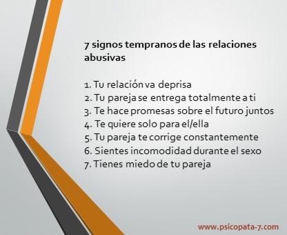 """""""7 signos tempranos de relaciones abusivas"""""""