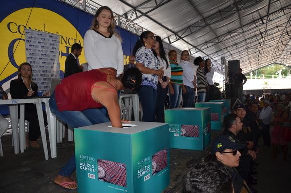 Prefeitura de Campina Grande realiza histórico sorteio das 4.100 moradias do Aluízio Campos