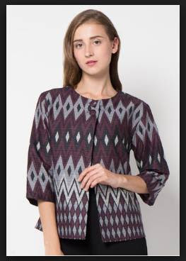 Model baju batik wanita atasan kombinasi