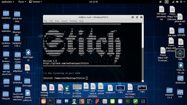 cara install tool Stitch