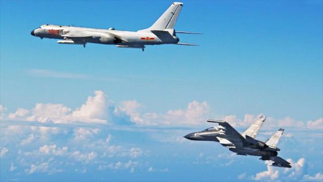 China envía cazas cerca de Japón, Corea del Sur y Taiwán