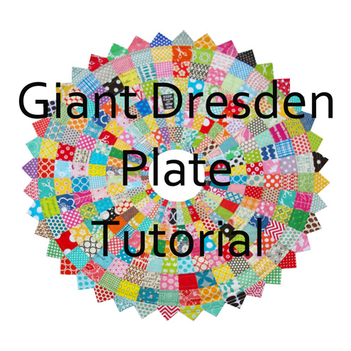 Red Pepper Quilts Giant Scrappy Dresden Plate Block And