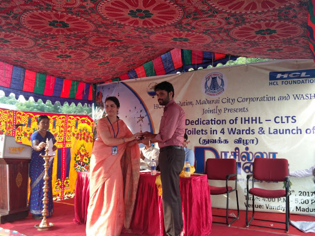 HCL Foundation with WASHi & Madurai Corporation to make Madurai an open defecation free city