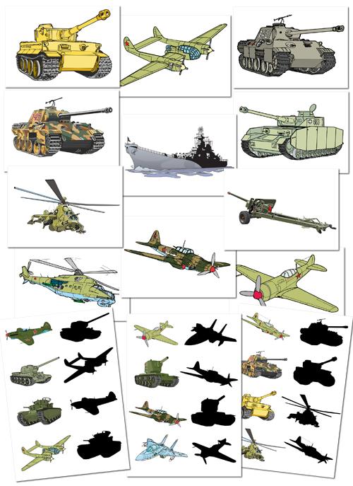 Играем до школы: Игра и наглядный материал Военная техника