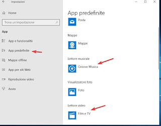 App predefinite su Windows 10