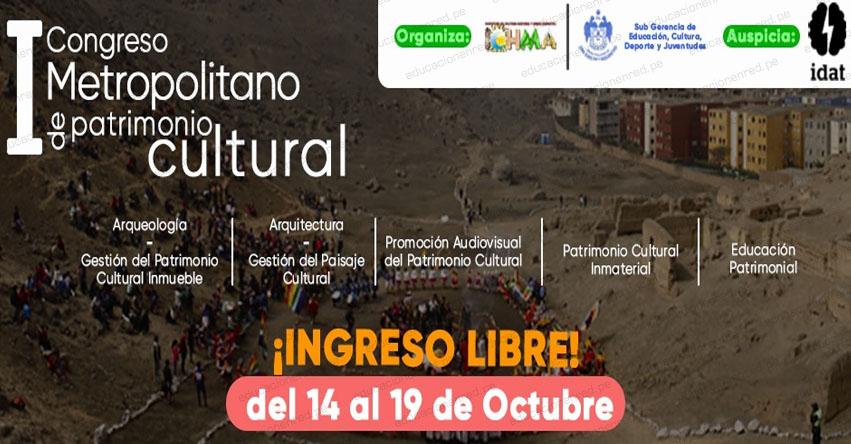 Primer Congreso Metropolitano de Patrimonio Cultural [Ingreso Libre]