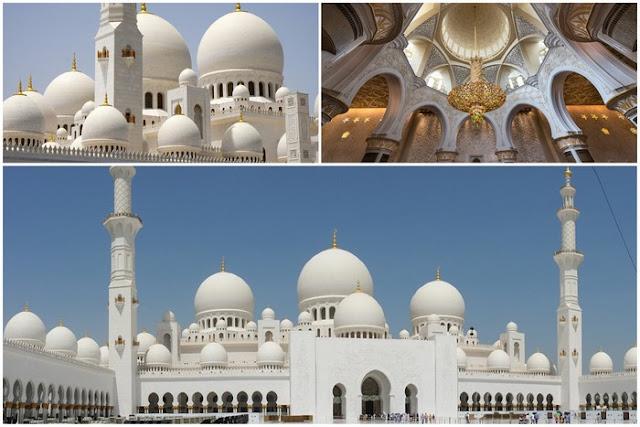 Gran Mezquita de Abu Dabi en los Emiratos