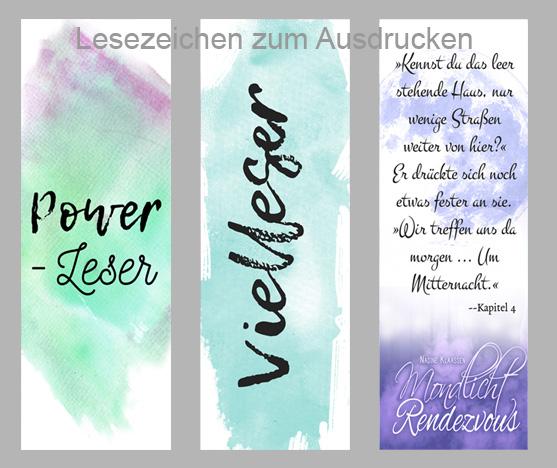 Favorit Autorenblog - Nadine Klaassen: Free Printable - Lesezeichen zum TQ19