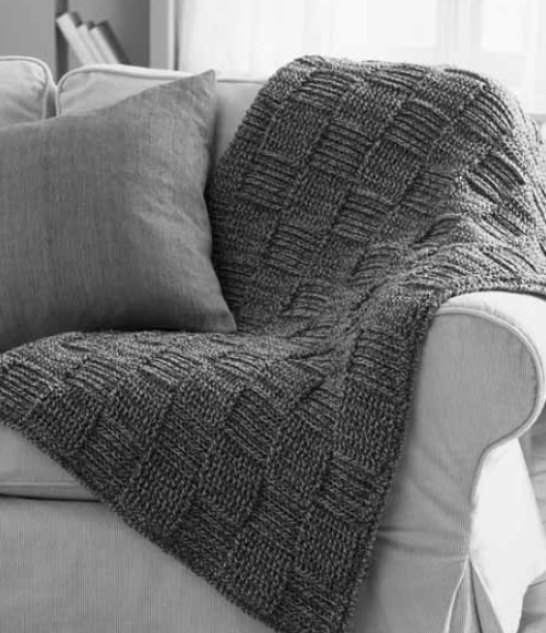 Basketweave Twists Blanket - Free Pattern
