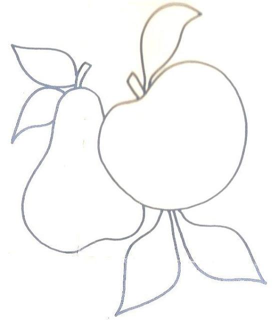 risco pintura em tecido frutas pano de prato