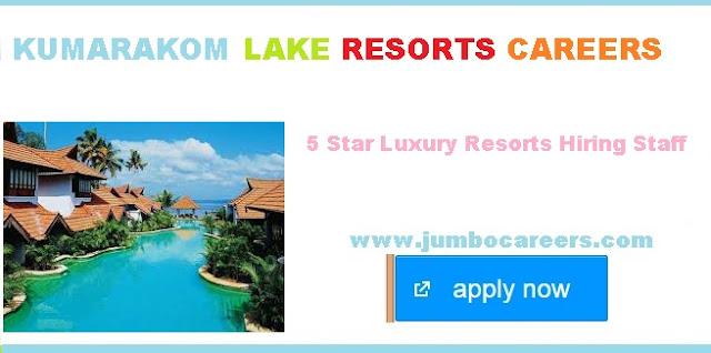 KLR careers 2018 | Kuamarakom Lake resorts Careers