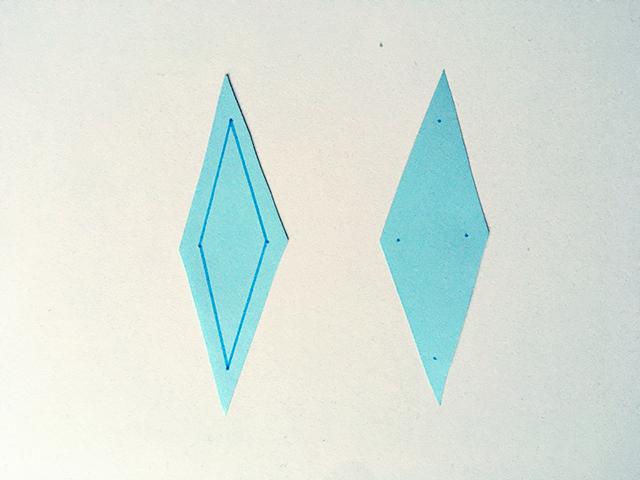 ruit lijn tekenen frozen 2 knutselen