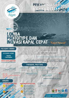 Lomba Prototype & Inovasi Kapal Cepat (LOPI) Nasional 2018
