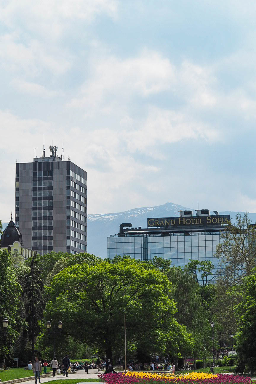 Vitosha mountain and Grand Hotel Sofia