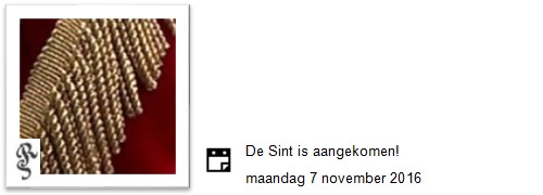 sint is aangekomen