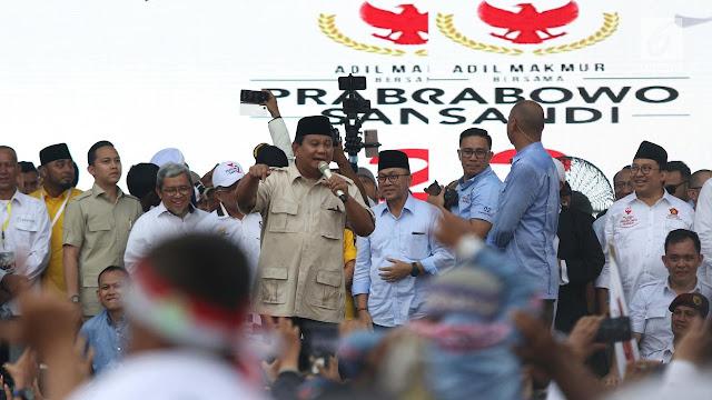 Prabowo: Bagaimana Saya Pulangkan Habib Rizieq Kalau Tak Jadi Presiden?