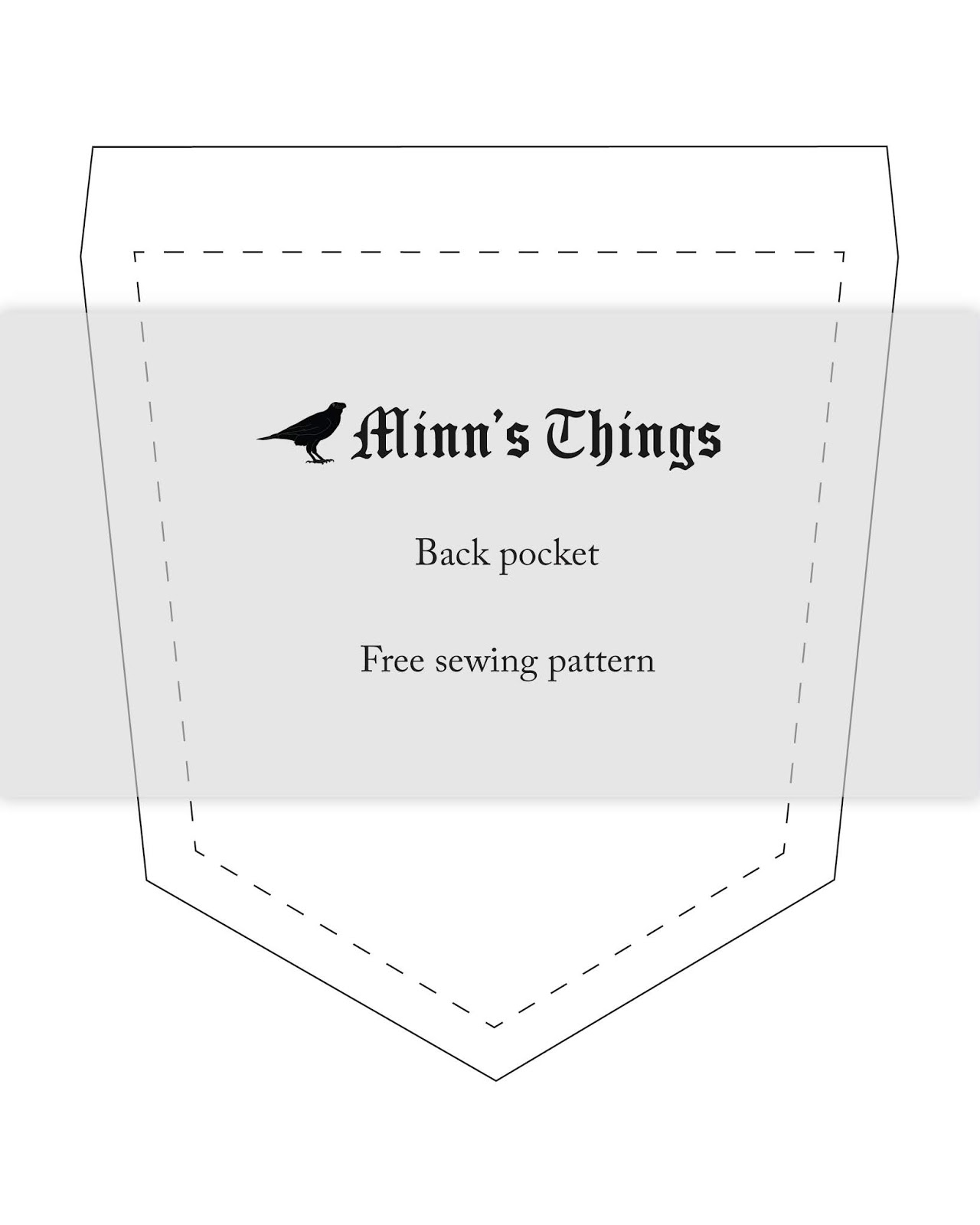 free sewing pattern back pocket for pants jeans skirts minn's things