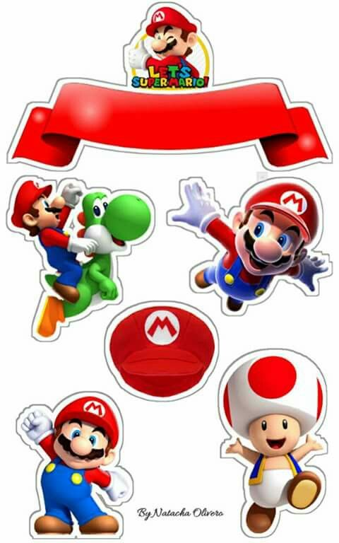 Super Mario Bros Free Printable Cake Toppers Oh My Fiesta For