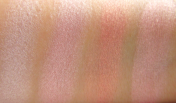 Swatches: I Heart Makeup Blushing Hearts Triple Baked Blusher - Iced Hearts - Makeup Revolution