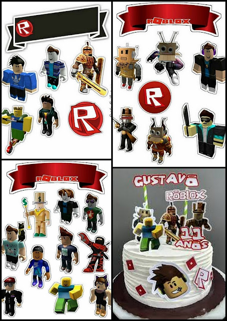Roblox Free Printable Cake Toppers.
