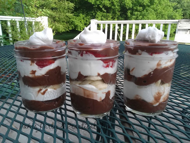 Banana Split Pudding Parfaits by Pams Party and Practical Tips