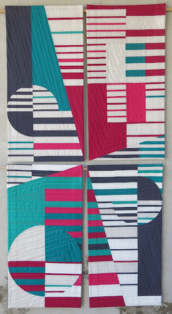 Luna Lovequilts - Ephémère - Four connected quilts