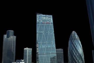 The London Skyline in Black