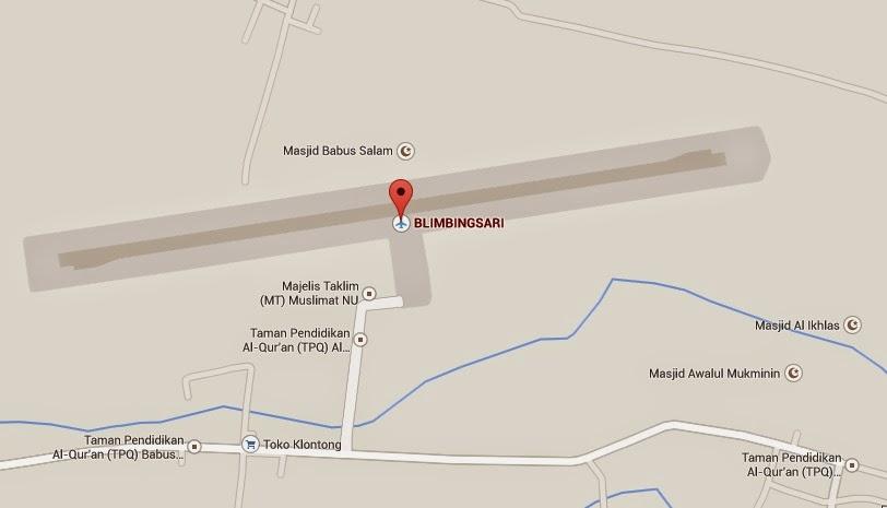 map bandara blimbingsari banyuwangi