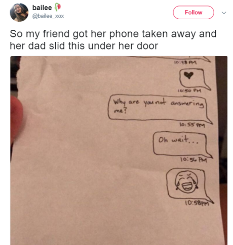 This dad deserves a PhD in Savagery