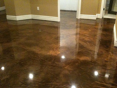 gloss metallic epoxy painted floor designs