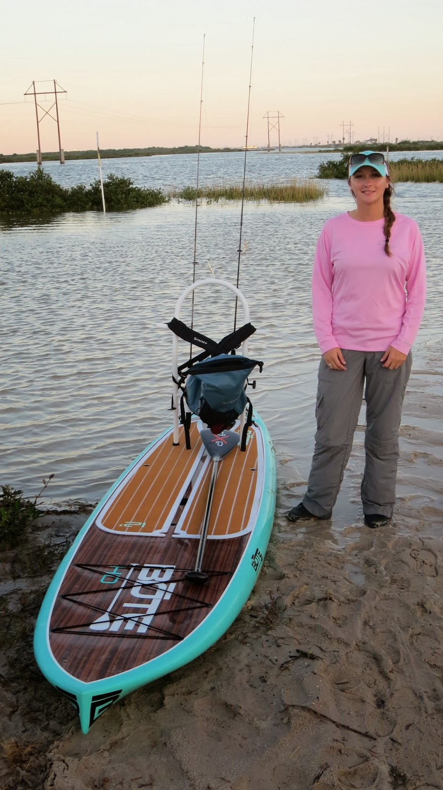 Fire Fly Fisherman Texas Coast Paddleboard Fishing